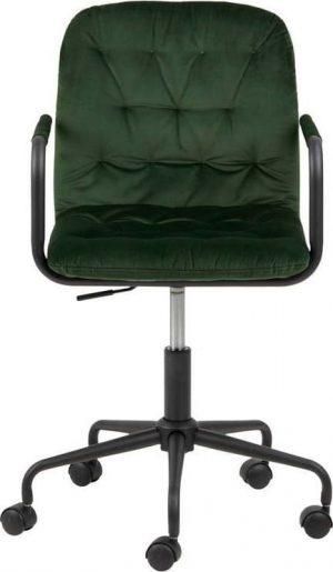 Zelená kancelářská židle se sametovým povrchem actona wendy - židle na SEDI.cz