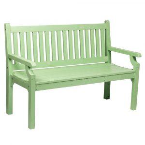 Dřevěná zahradní lavička kolna