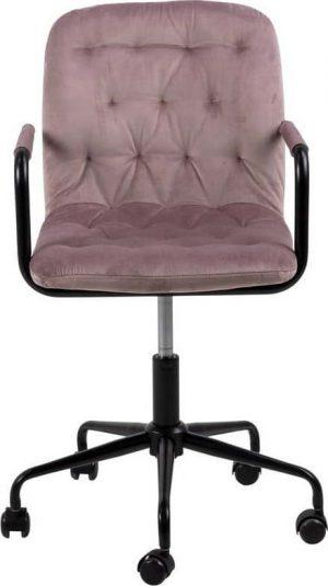 Růžová kancelářská židle se sametovým povrchem actona wendy - židle na SEDI.cz