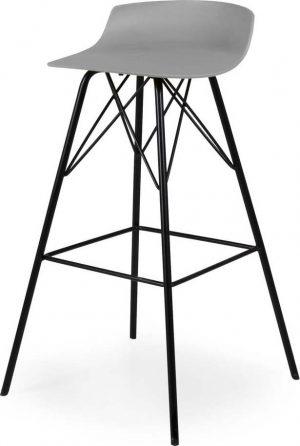 Sada 2 šedých barových židlí tenzo tori - židle na SEDI.cz
