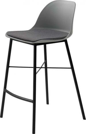 šedá barová židle unique furniture whistler - židle na SEDI.cz