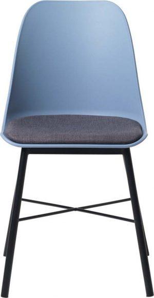 Sada 2 modro-šedých židlí unique furniture whistler - židle na SEDI.cz