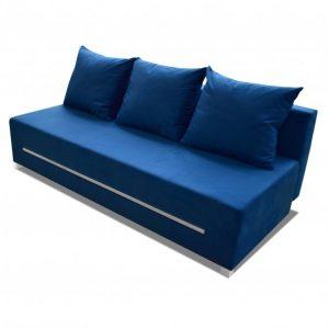 Rozkládací pohovka zoya tmavě modrá s úložným prostorem